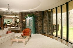 Interior 7/8 Applegate House by architect Fay Jones