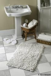 white floor mat